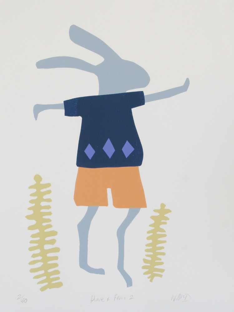 Hare and Fern 2 (boy) by Wendy McDonald