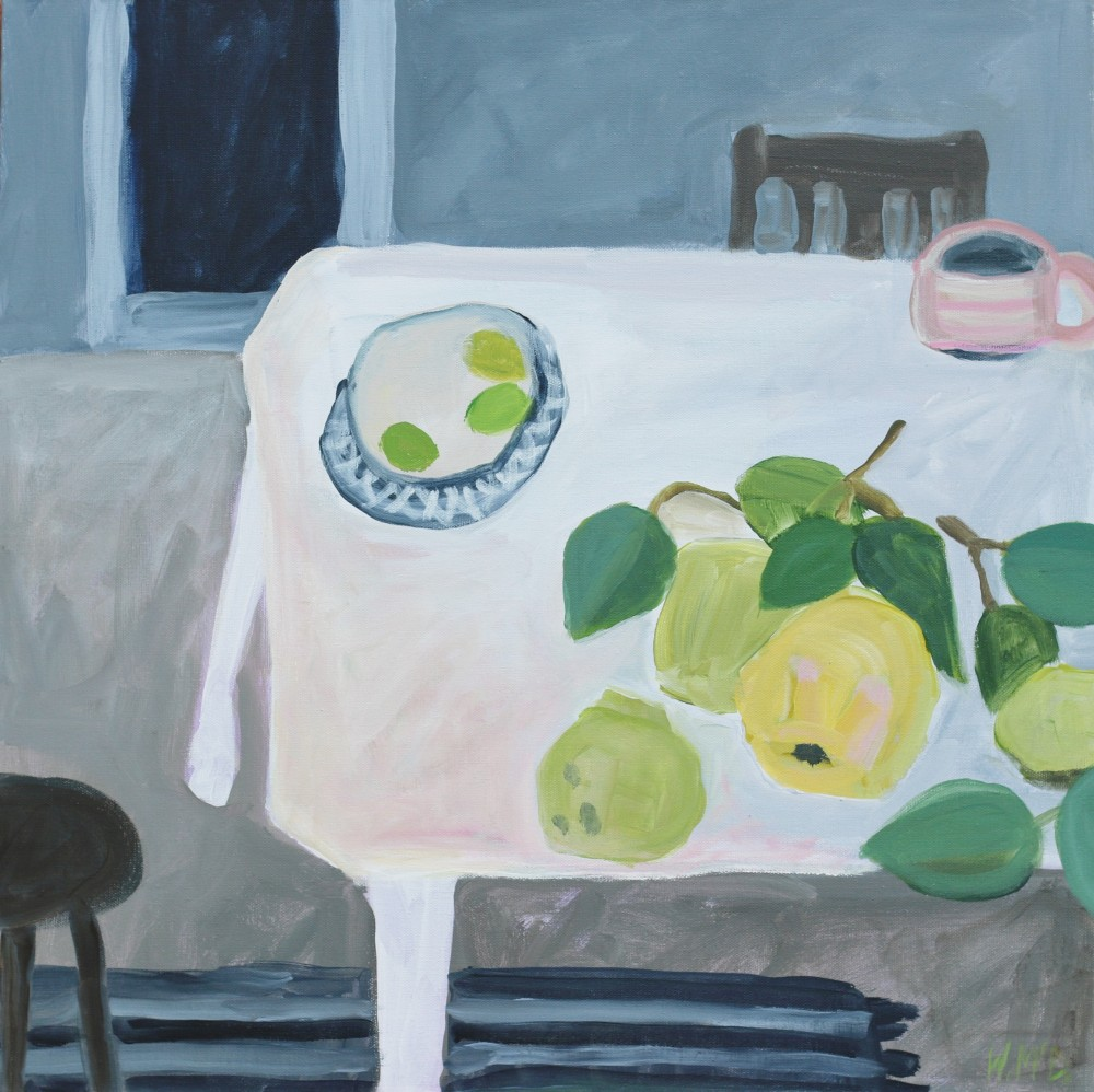Kitchen with Quince and Lime by Wendy McDonald