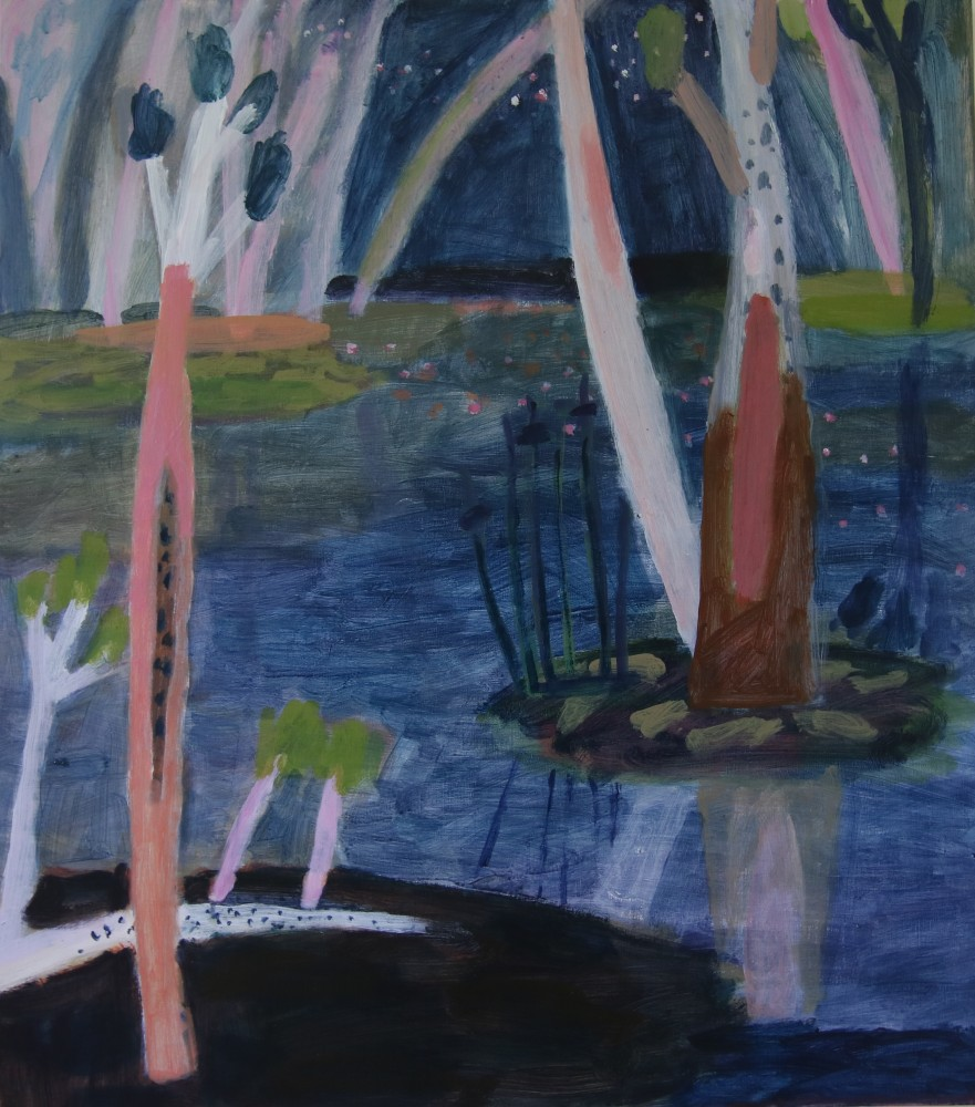 Night with Dark Water, Pollack Swamp by Wendy McDonald
