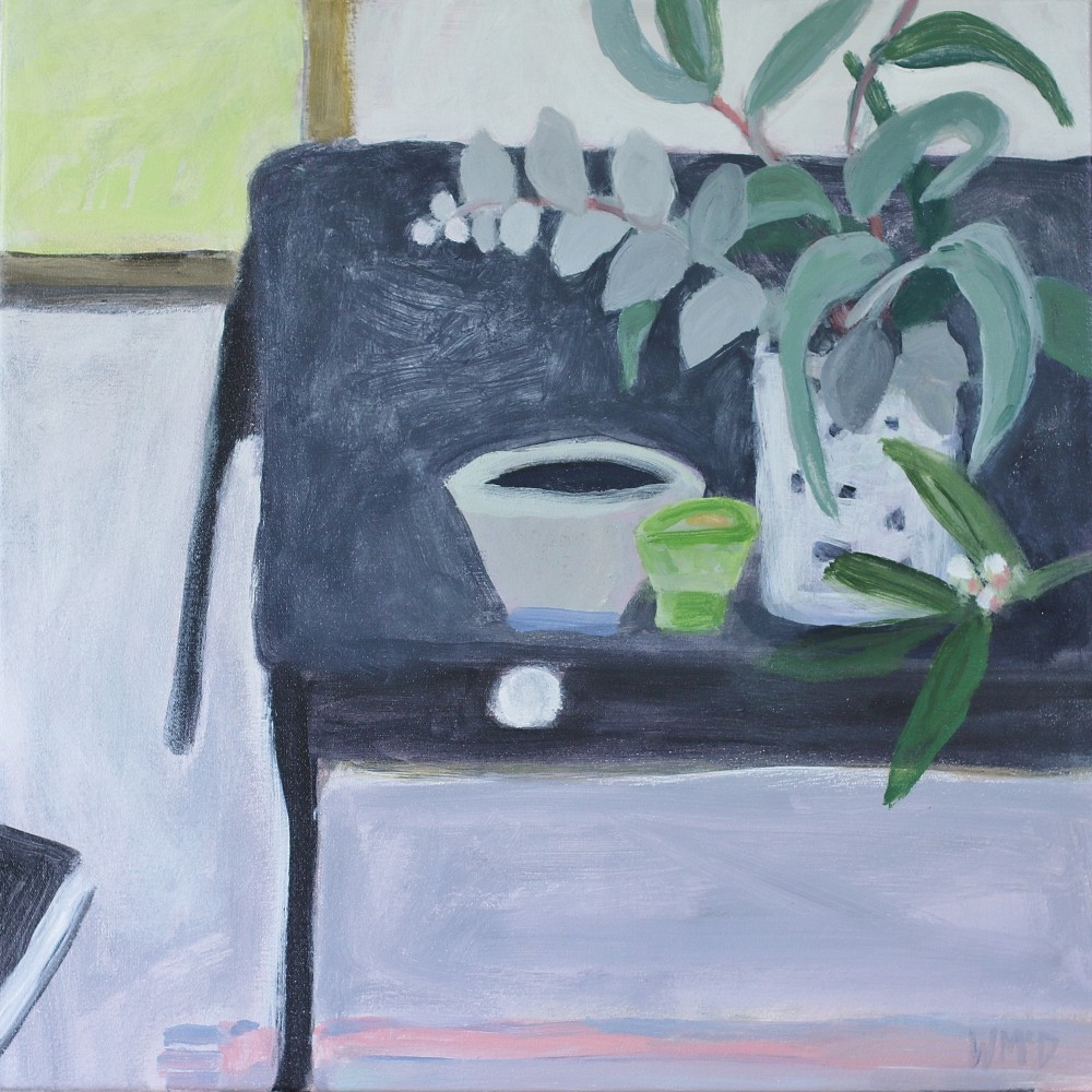 Studio with Grey Bench by Wendy McDonald