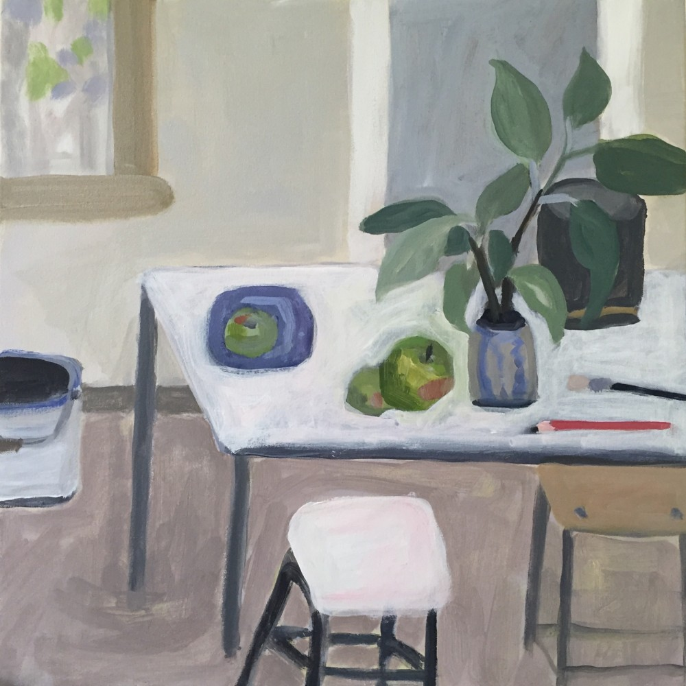 Studio Bench with Apples by Wendy McDonald